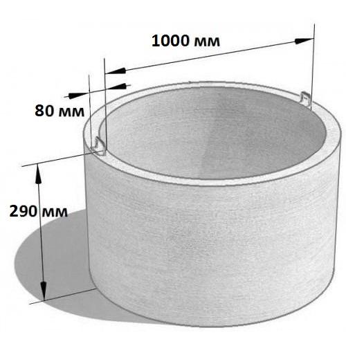 Кольцо стеновое КС 10.3 (Ø=1160 мм. h=290 мм.)