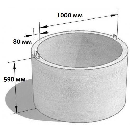 Кольцо стеновое КС 10.6 (Ø=1160 мм. h=590 мм.)