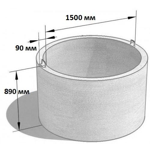 Кольцо стеновое КС 15.9 (Ø=1680 мм. h=890 мм.)