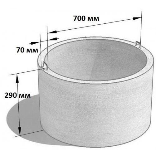 Кольцо стеновое КС 7.3 (Ø=840 мм. h=290 мм.)