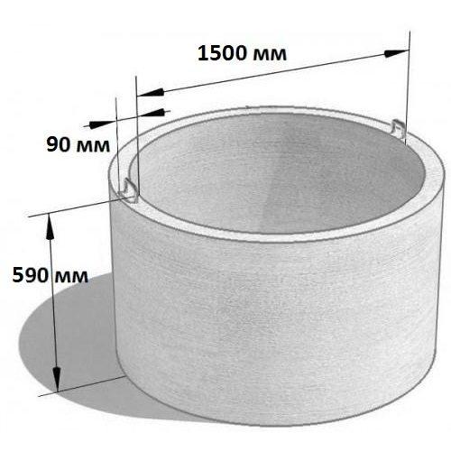 Кольцо стеновое КС 15.6 (Ø=1680 мм. h=590 мм.)