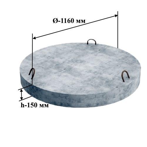 ПН 10 плита днище (Ø=1160 мм. h=150 мм.)