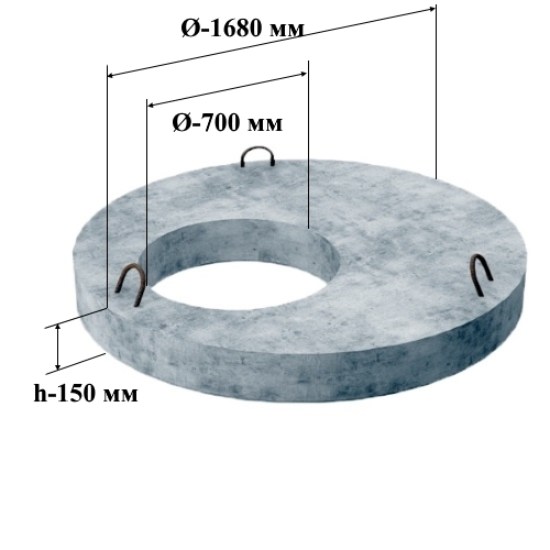ПП 15.2 плита перекрытия (Ø=1680 мм. h=150 мм.)