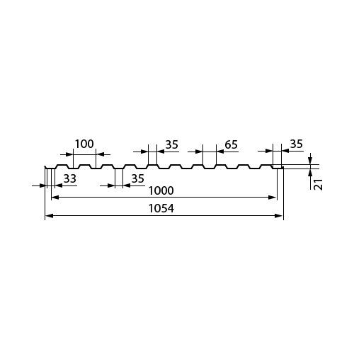 Профнастил С 21-1000