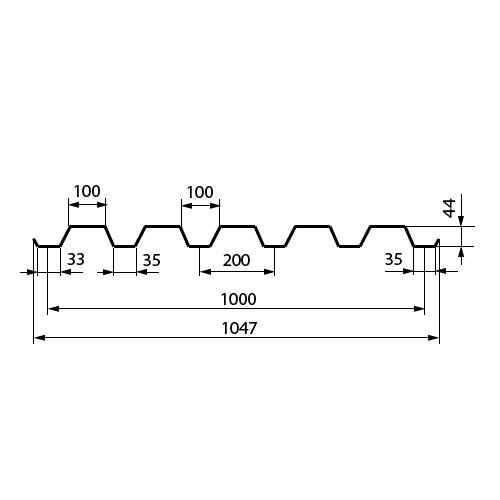 Профнастил С 44-1000