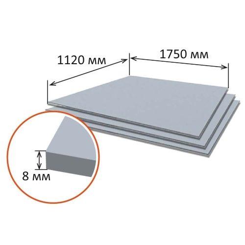 Шифер плоский 8 мм (1750×1120×8)